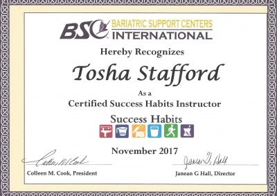 Bariatric Success Habits Instructor Certification