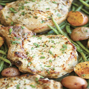 One Pan Ranch Pork Chops